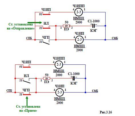 Четырехпроводная схема смены направления.