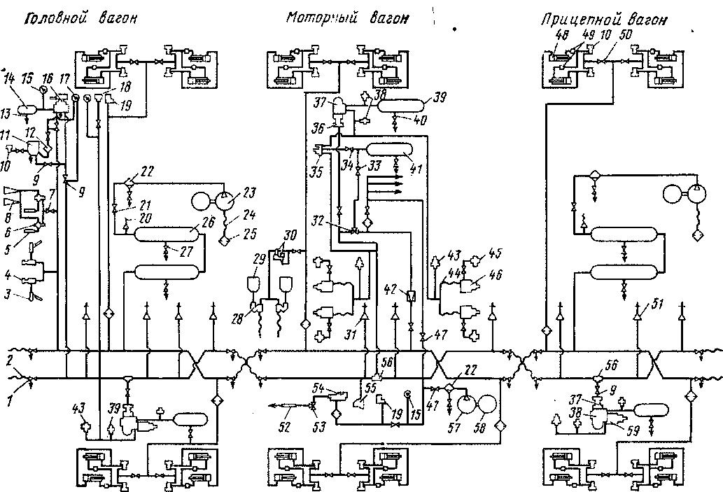 Схемы в электропоездах
