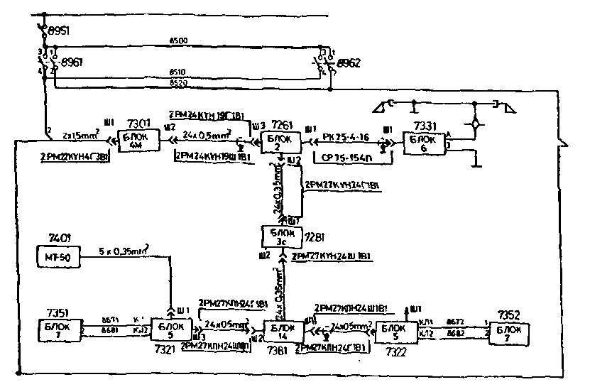 Рис.54 Схема цепей питания
